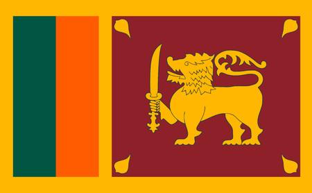 スリランカの国旗  イラスト・ベクター素材