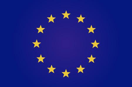 EU flag Reklamní fotografie - 77487114