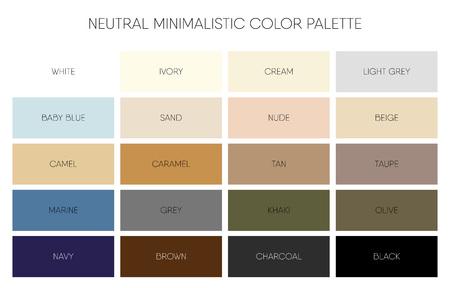 Minimalistic color palette chart Ilustração