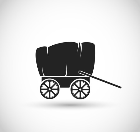Stagecoach  Wagon form Wild West icon Illustration