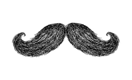Hand drawn mustache vector Ilustração