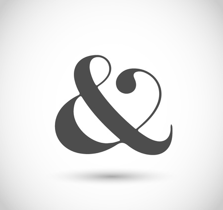 Decorative vector ampersand Ilustracja