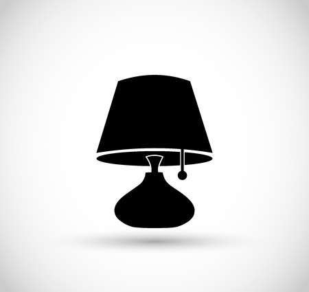 article of furniture: Lamp icon vector