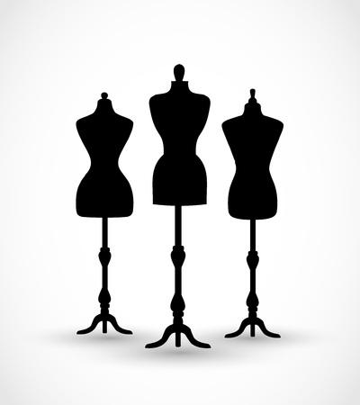 Mannequin set vector