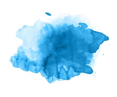 Blue watercolor splash vector 向量圖像