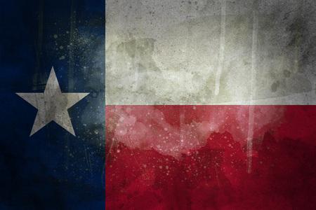 Texas grunge flagge Standard-Bild - 76153471