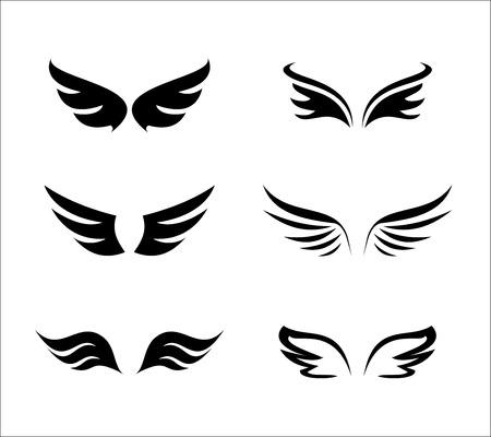 Wing icon set vector Stock Photo