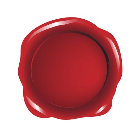warrants: Blank red wax seal vector