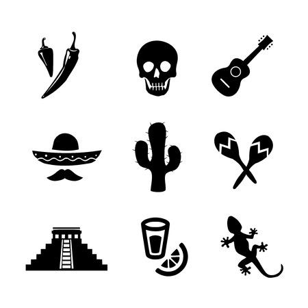 Mexican icon set vector Zdjęcie Seryjne