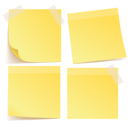 Yellow stickers set vector Stock Photo