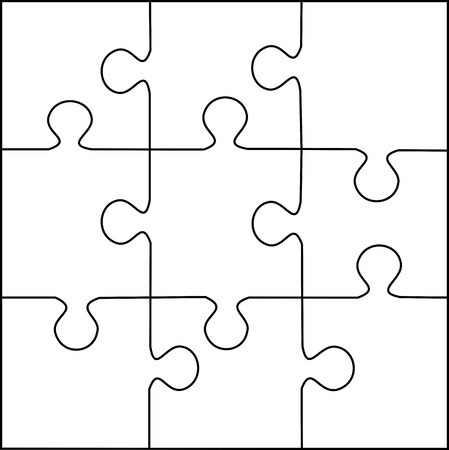 puzzle template 9 pieces vector stock photo picture and royalty