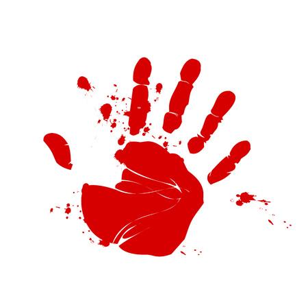 bloody hand print: Blood hand print vector