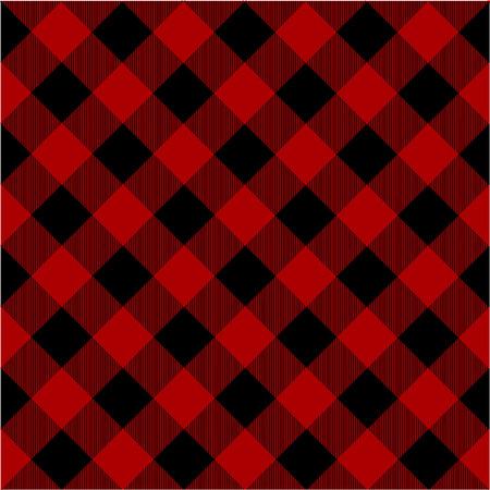 木こり格子縞のパターン ベクトル