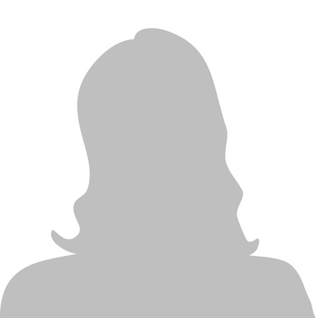 Profile picture illustration - woman, vector Vectores