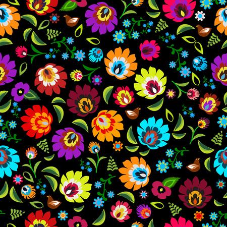 Polski kwiatowy wzór wektora