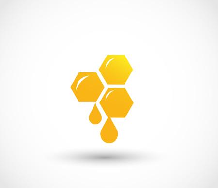 蜂蜜のアイコン ベクトル  イラスト・ベクター素材