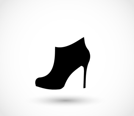 ankles sexy: Fashion woman boot, shoe on heels vector