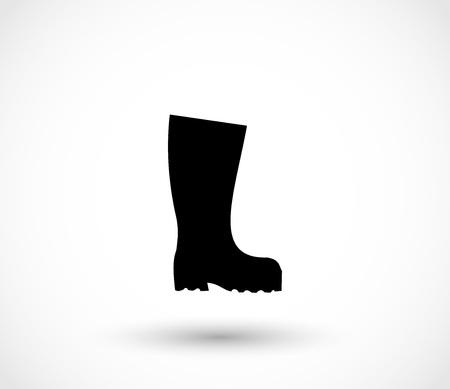 Black wellington icon vector