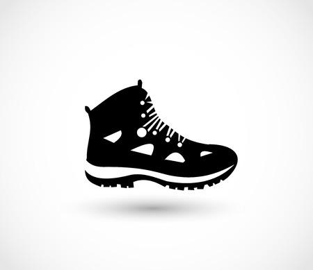 Hike icono de icono de zapato