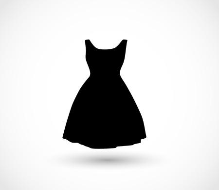 Vecteur icône robe noire Banque d'images - 81275403