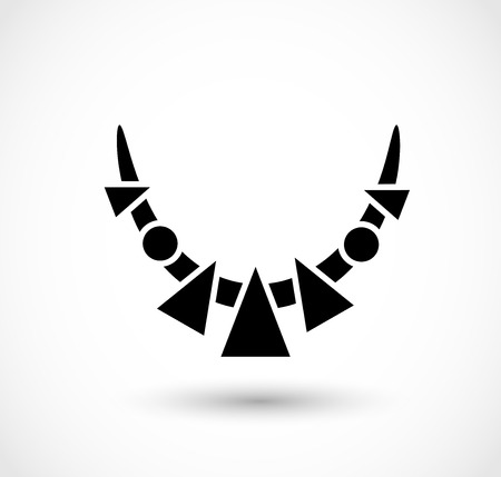 African necklace icon vector