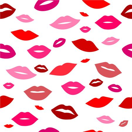 Lips pattern background vector