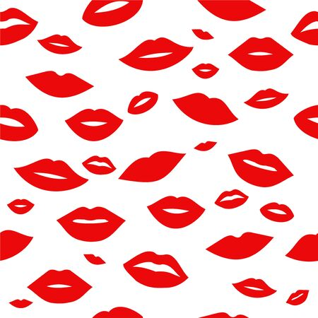Lips pattern background Ilustrace