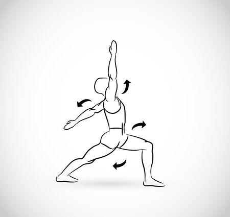 Types of exercises - illustration Vektoros illusztráció