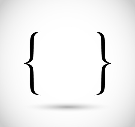 Bracket icon Vector illustration.