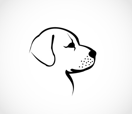 Dog head profile icon vector