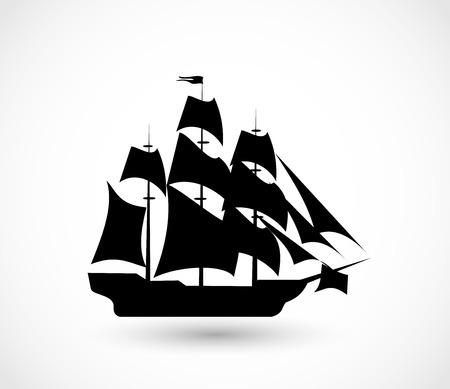 Schiff-Symbol Vektor-Illustration Vektorgrafik