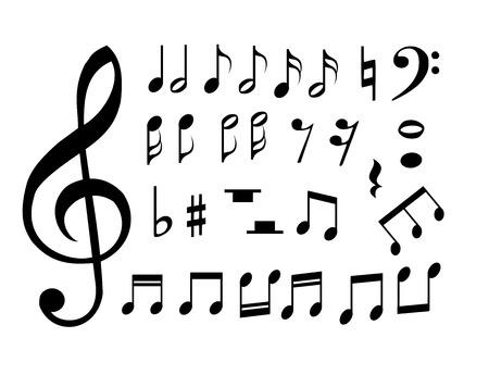 Set music notes