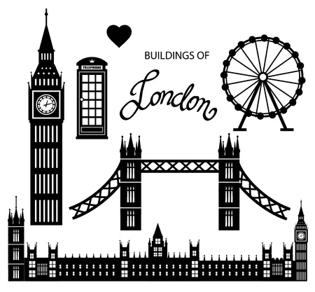 London icon set vector collection