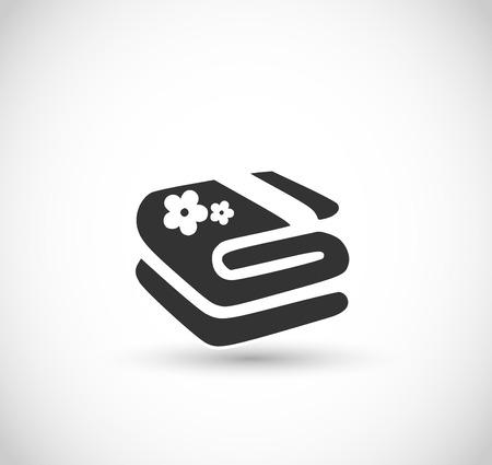 Towel icon vector Illustration