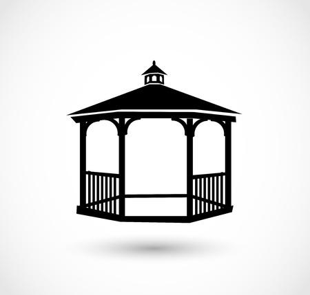 Icono de Gazebo Ilustración vectorial. Ilustración de vector