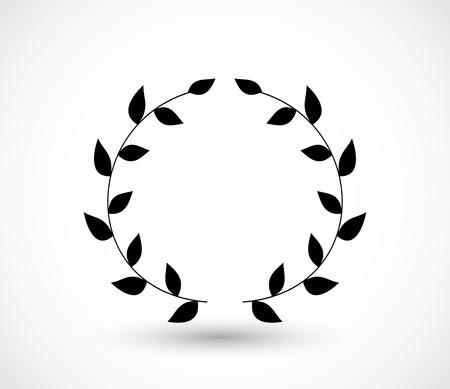 Laurel icon vector 矢量图像