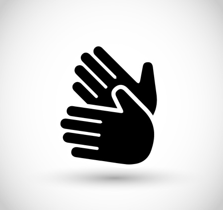 Icon with two hands vector