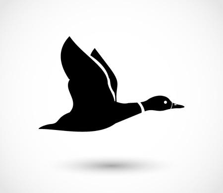 Duck flying icon, duck hunt vector 版權商用圖片 - 100941741