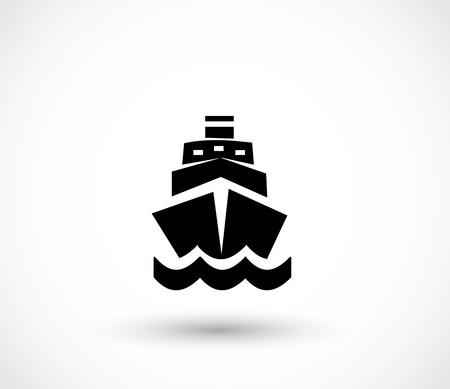 Silhouette Ship icon, vector illustration