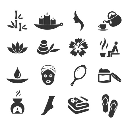 Spa icon set vector illustration on white background.