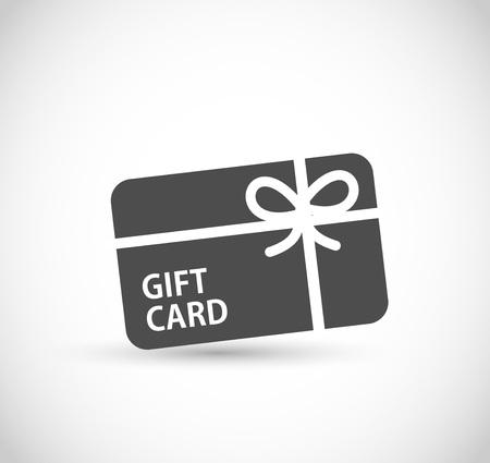 Gift card icon vector