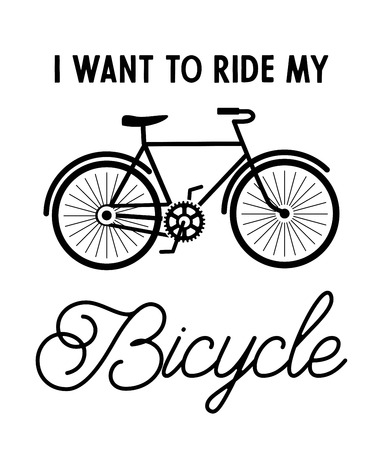 I want to ride my bicycle vector illustration Ilustração