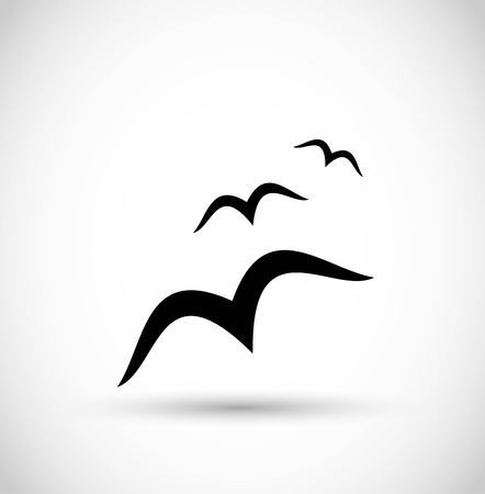 Seagull  birds icon vector Illustration