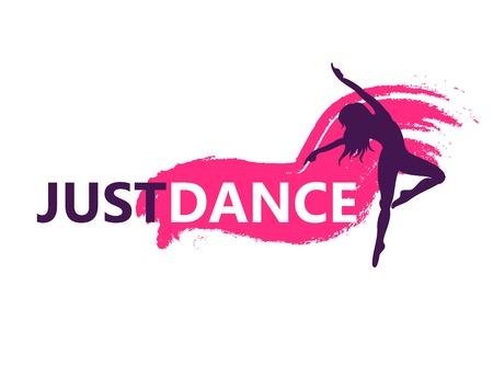 Dance logo vector design symbol Illustration