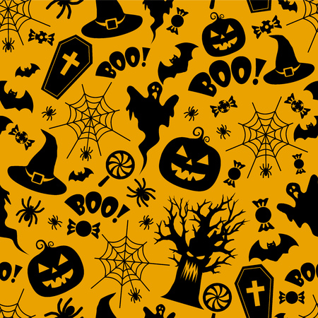 Beautiful Halloween seamless pattern VECTOR