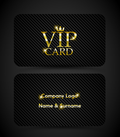VIP card set vector.