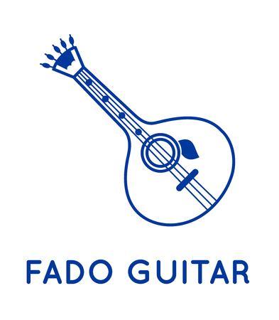 Fado guitar icon vector