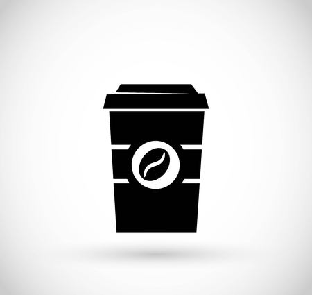 Take away coffee paper cup icon vector