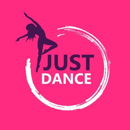 Dance logo vector design symbol Çizim
