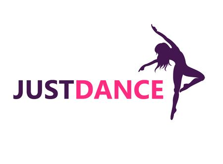 Dance logo vector design symbol 일러스트